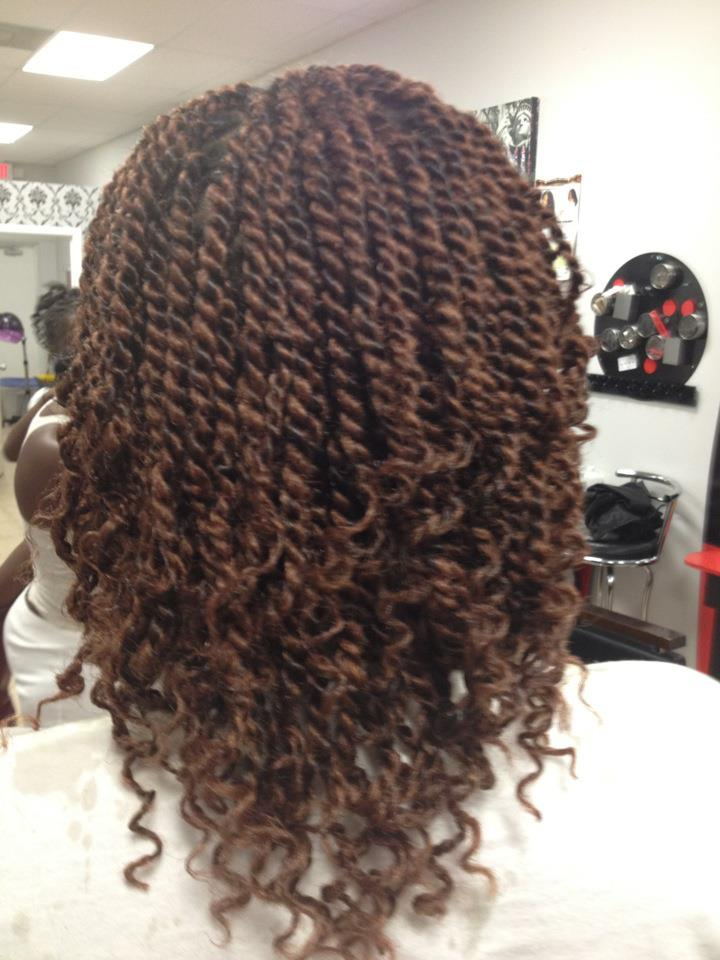 KINKY TWIST WITH MARLEY HAIR Jamaican Rope Twist Braids